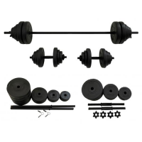 Set haltera si gantere FitTronic, 50 kg